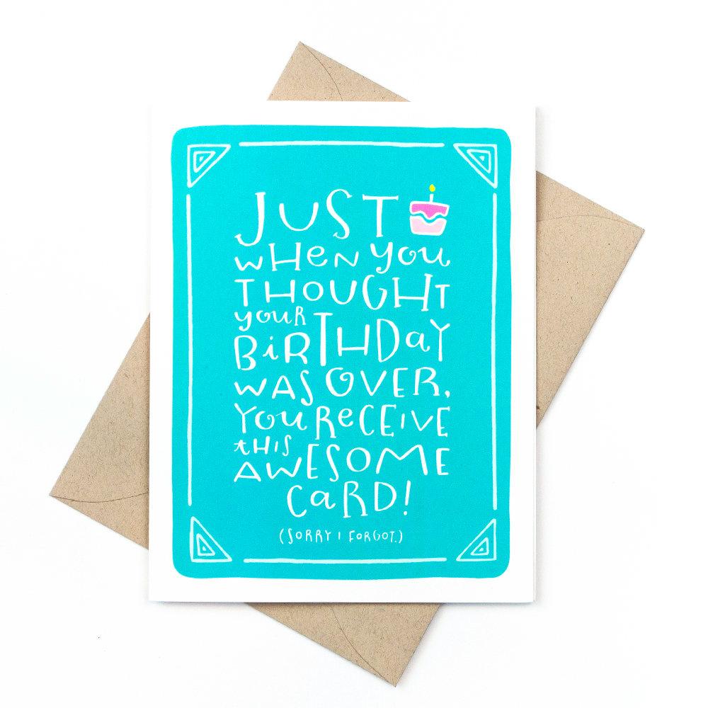 Funny Belated Birthday Card Pinwheel Print Shop