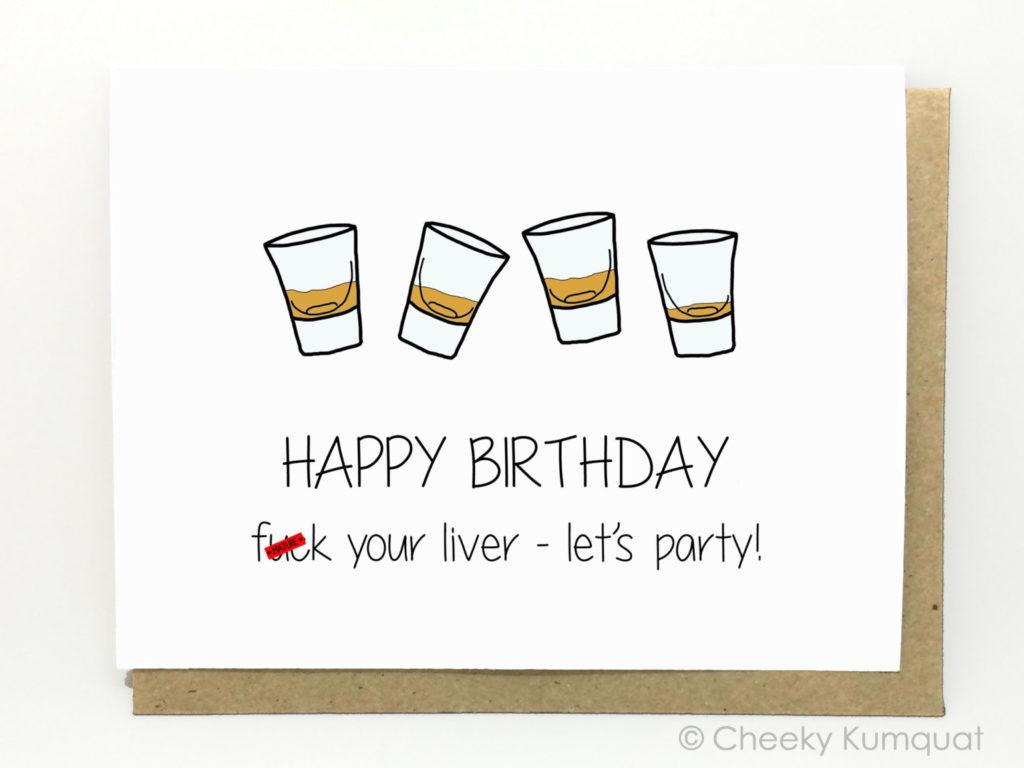 Funny Birthday Card 21st Birthday Card Friend By CheekyKumquat