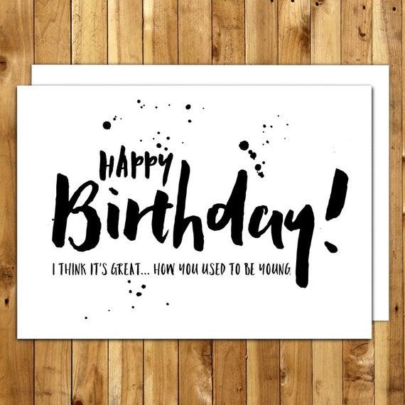 Funny Birthday Card Birthday Card For Him Birthday Card