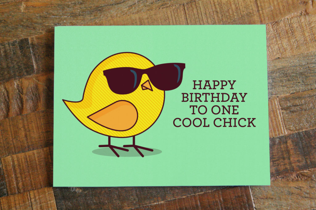 Funny Birthday Card For Her Happy Birthday To One Cool