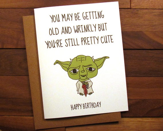 Funny Birthday Card Star Wars Birthday Card With Recipe