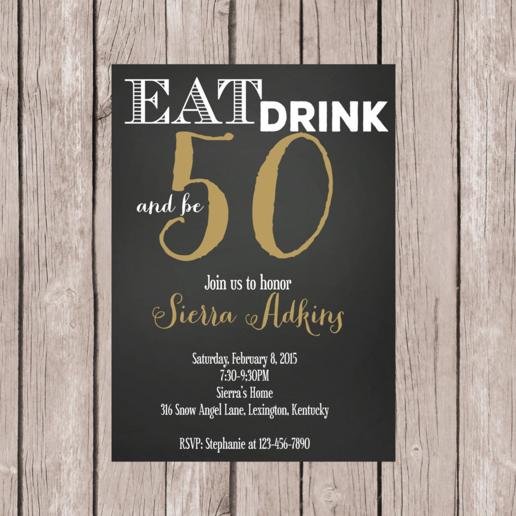 Funny Birthday Invites For Adults 50th Birthday