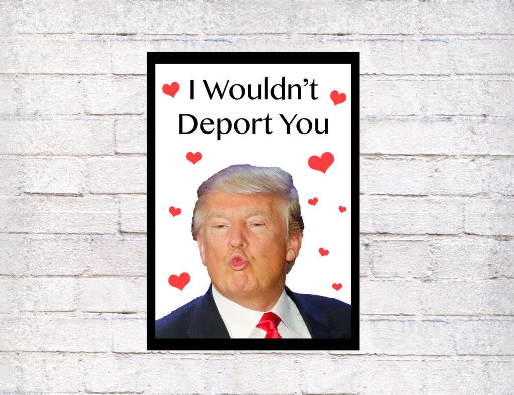 Funny Donald Trump Printed Greeting Card Funny