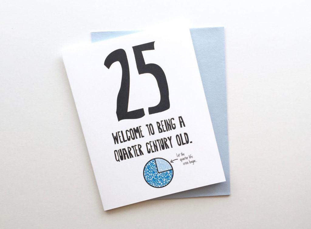 Funny Honest 25th Birthday Card 25th Birthday Card