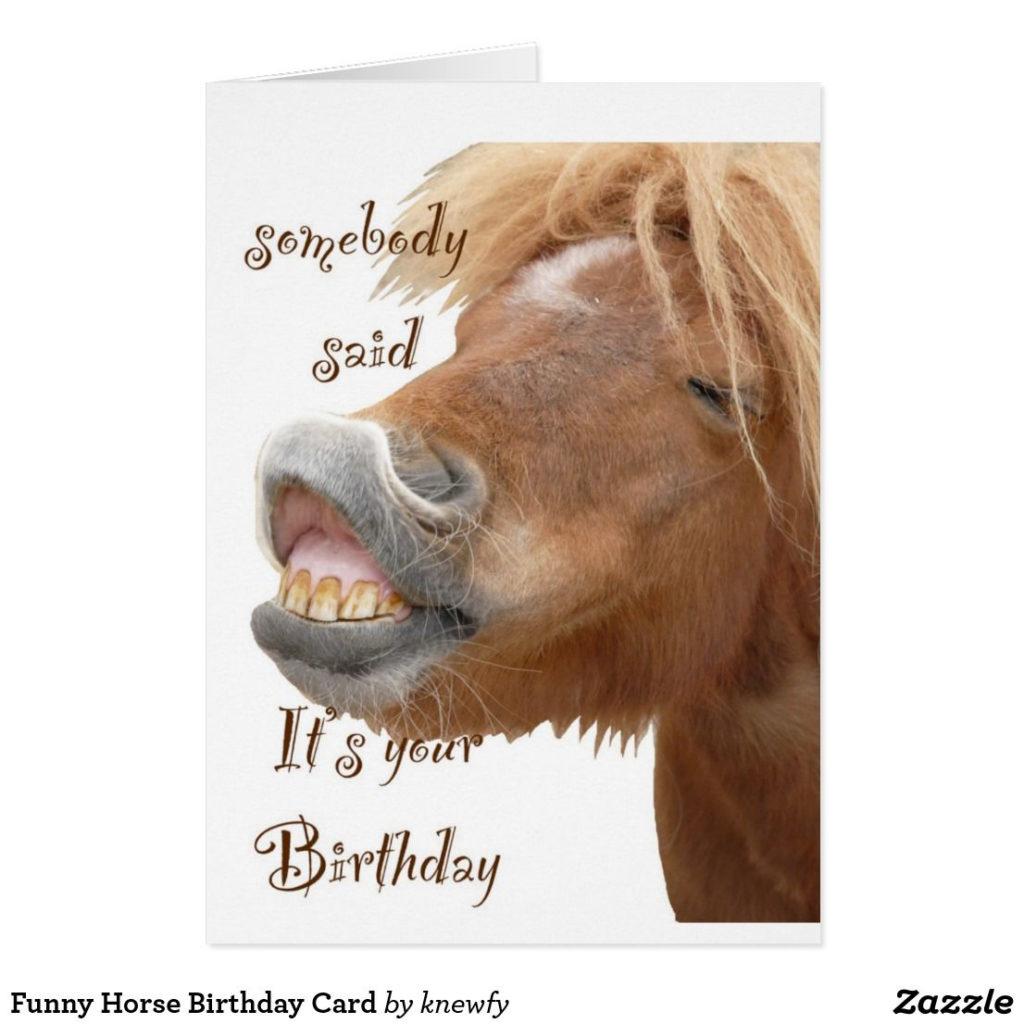 Funny Horse Birthday Card Zazzle Happy Birthday