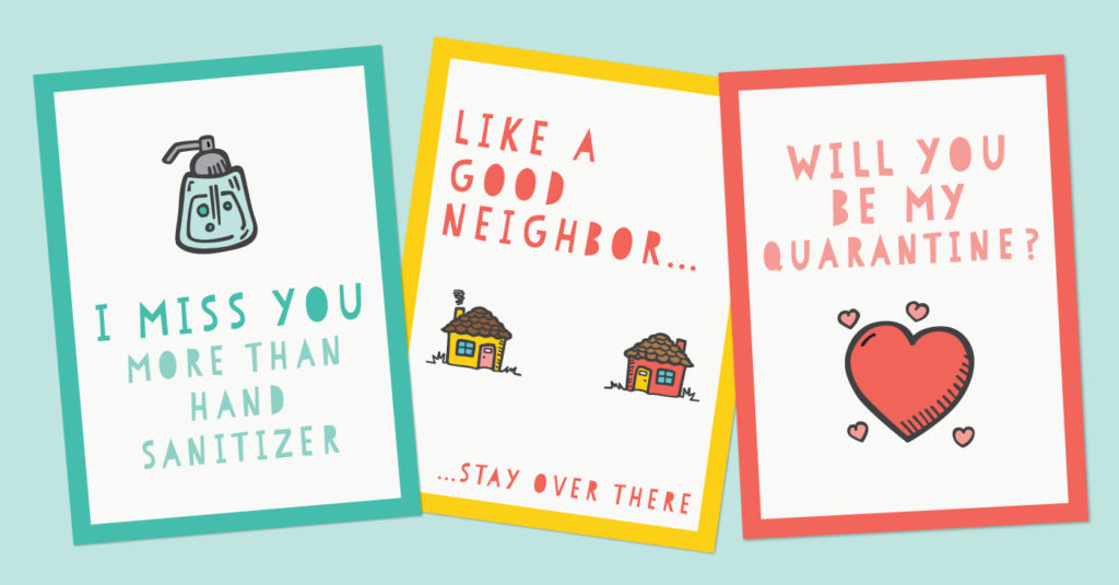 Funny Printable Quarantine Cards For Social Distancing