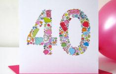 Printable Birthday Cards 40th