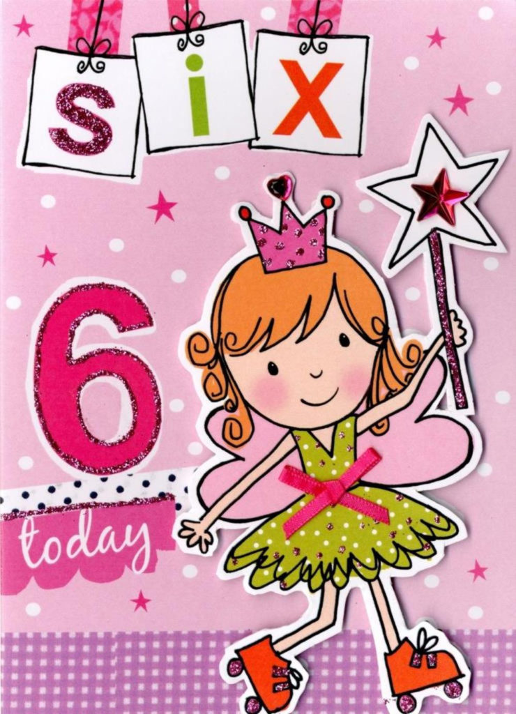 Girls 6th Birthday Card Six Today Cards Love Kates