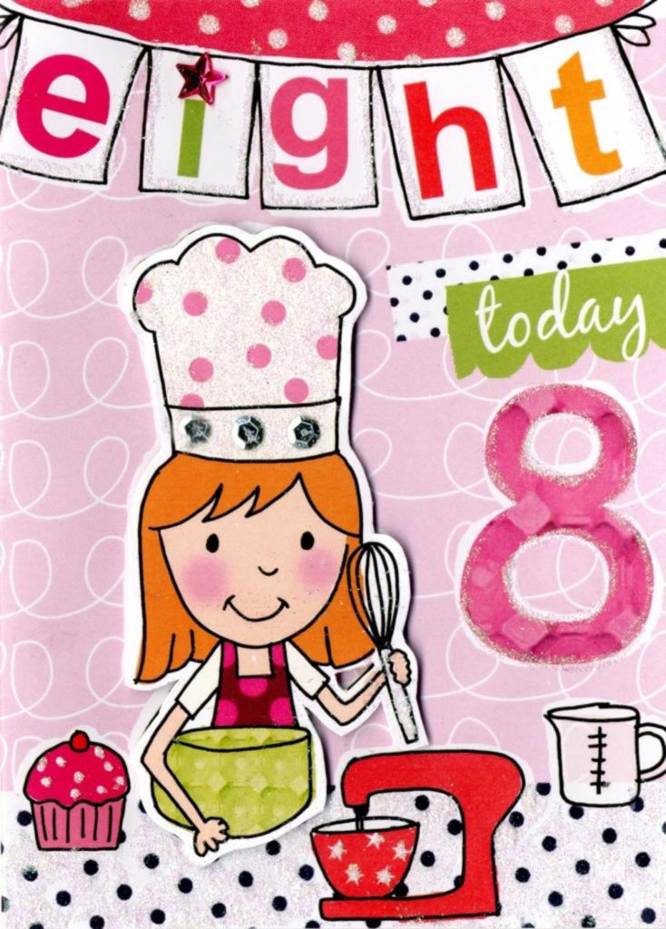Girls 8th Birthday Card Eight Today Cards Love Kates