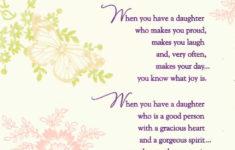 Printable Birthday Cards Daughter