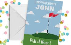 Golf Birthday Cards Free Printable