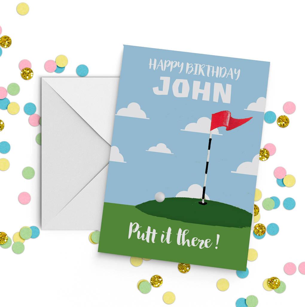Golf Birthday Card By Giddy Kipper Notonthehighstreet