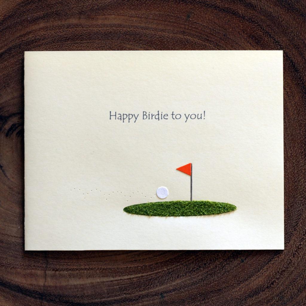 Golf Birthday Card Happy Birdie To You