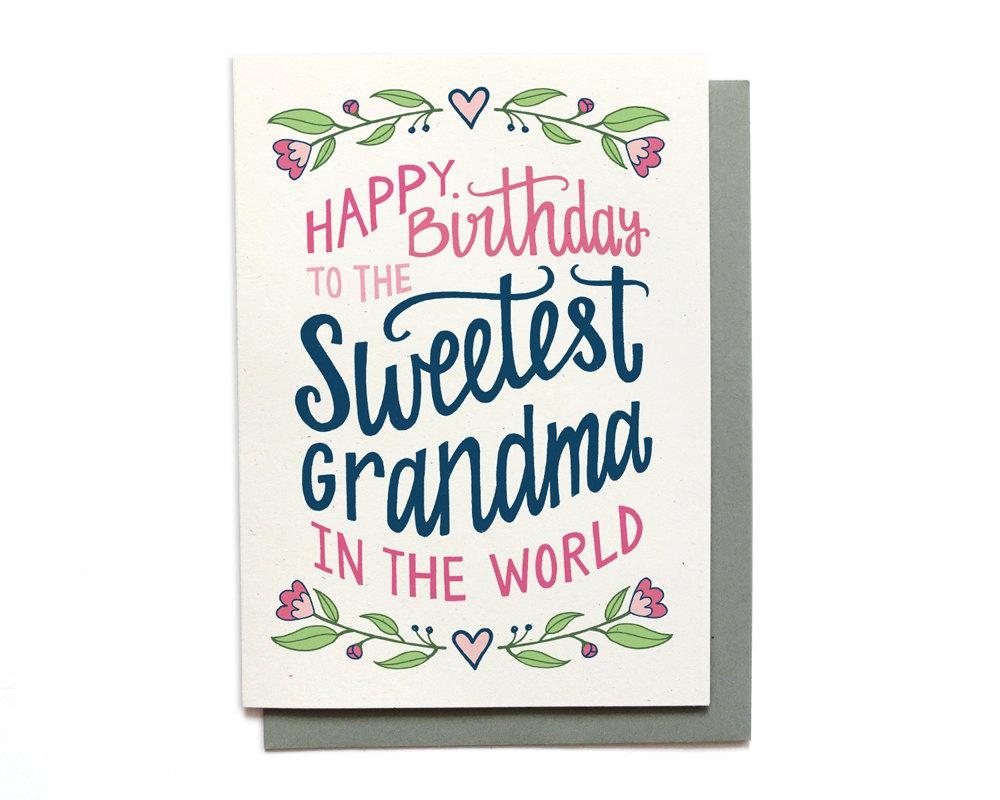 Grandma Birthday Card Sweetest Grandma In The World