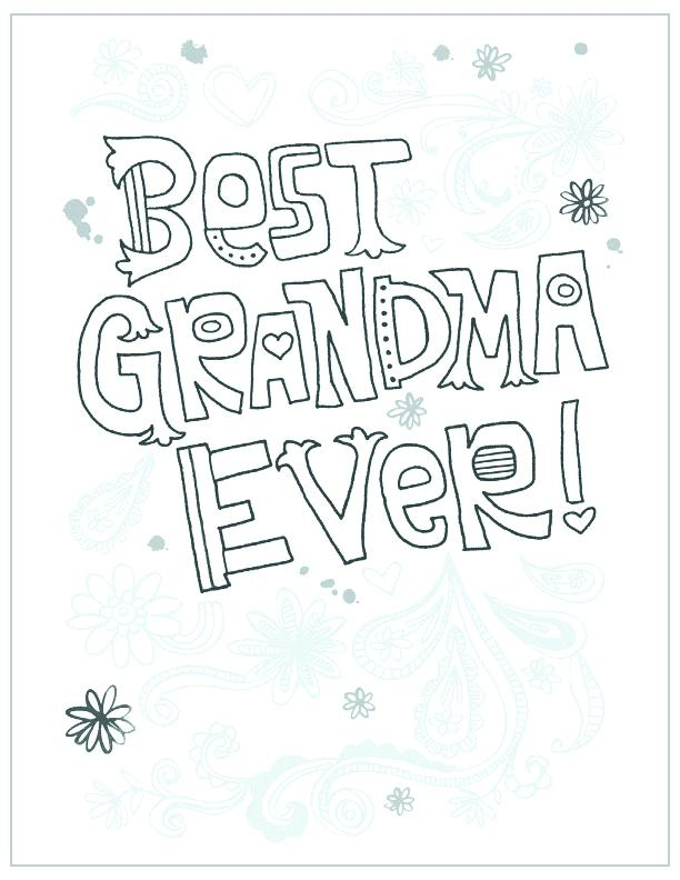 Grandma Birthday Coloring Pages At GetColorings Free