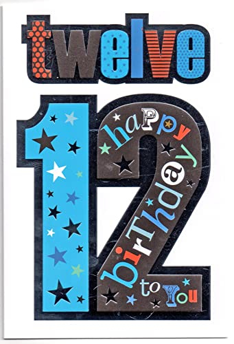Grandson 12 Birthday Card 7319 Amazon co uk Office Products