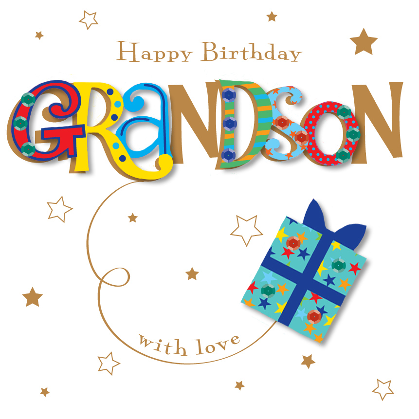 Grandson Happy Birthday Greeting Card By Talking Pictures
