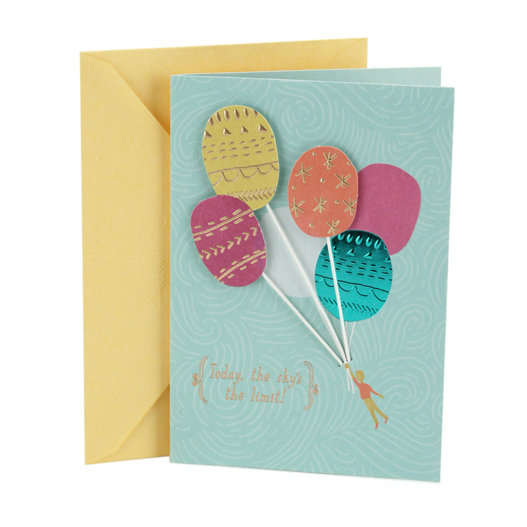 Hallmark Birthday Greeting Card Balloons Walmart