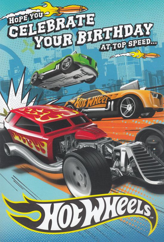 Hallmark Interactive Birthday Card Boy Hot Wheels