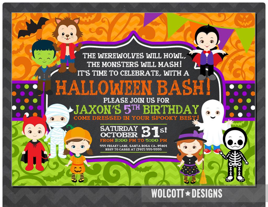 Halloween Birthday Invitation Kids Halloween Party