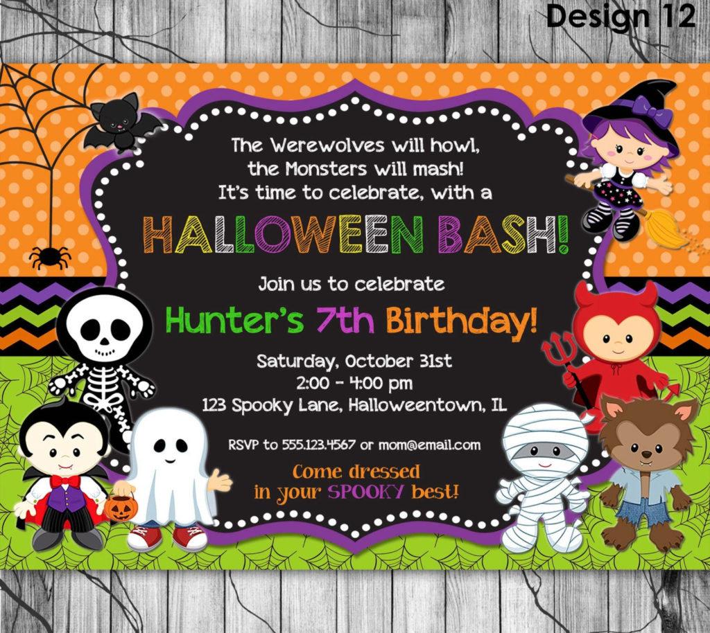 HALLOWEEN Birthday Invitation PRINTABLE Kids Halloween Party
