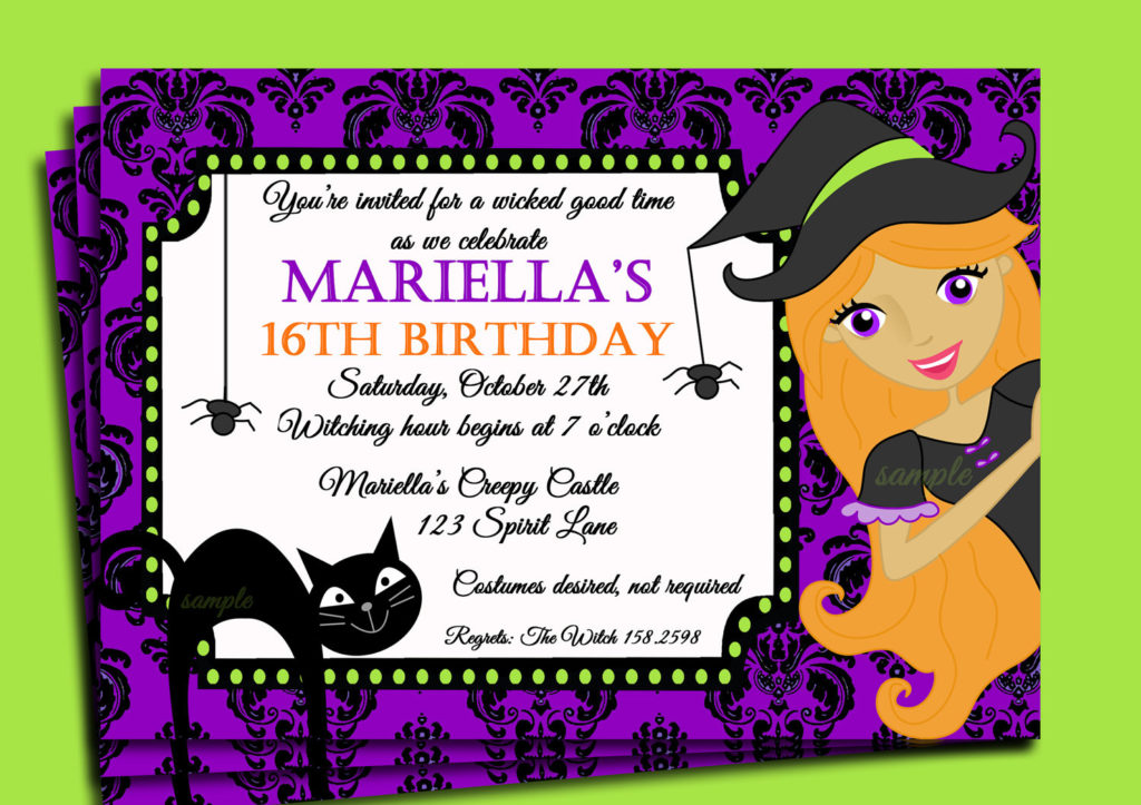 Halloween Themed Birthday Party Invitations DolanPedia