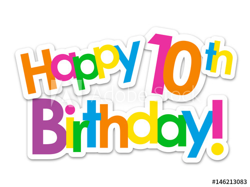 HAPPY 10th BIRTHDAY Card Stock Image And Royalty free