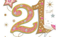 Happy 21st Birthday Cards Printable