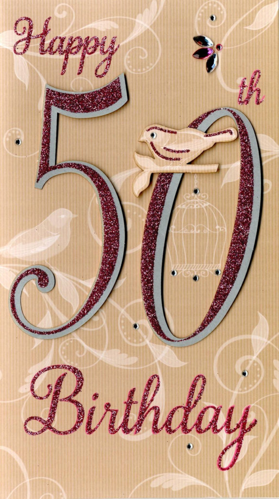 Happy 50th Birthday Greeting Card Cards