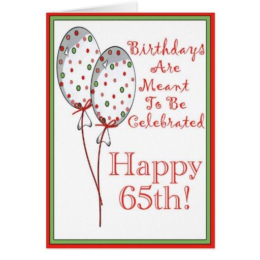 Happy 65th Birthday Card Zazzle