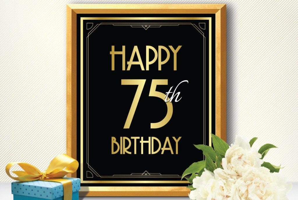 Happy 75th Birthday 75th Birthday Decoration 75th Birthday