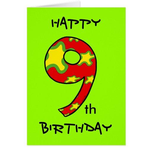 Happy 9th Birthday Card Zazzle