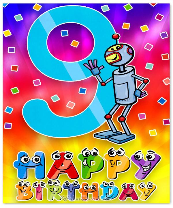 Happy 9th Birthday Wishes For 9 Year Old Boy Or Girl