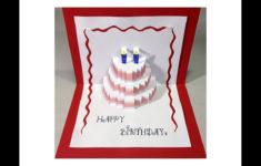 Happy Birthday Cake Pop Up Card Tutorial YouTube