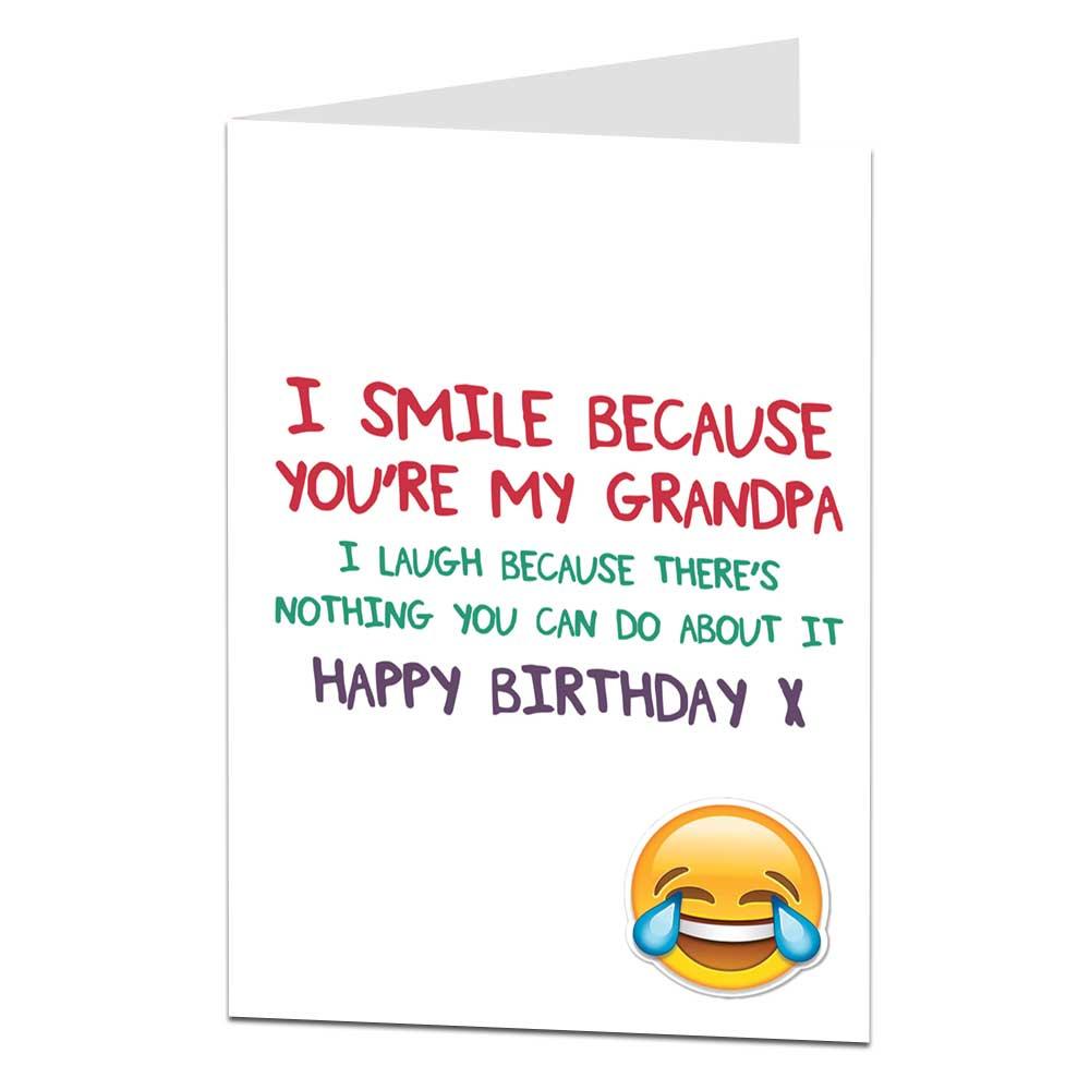 Happy Birthday Card For Grandpa EBay