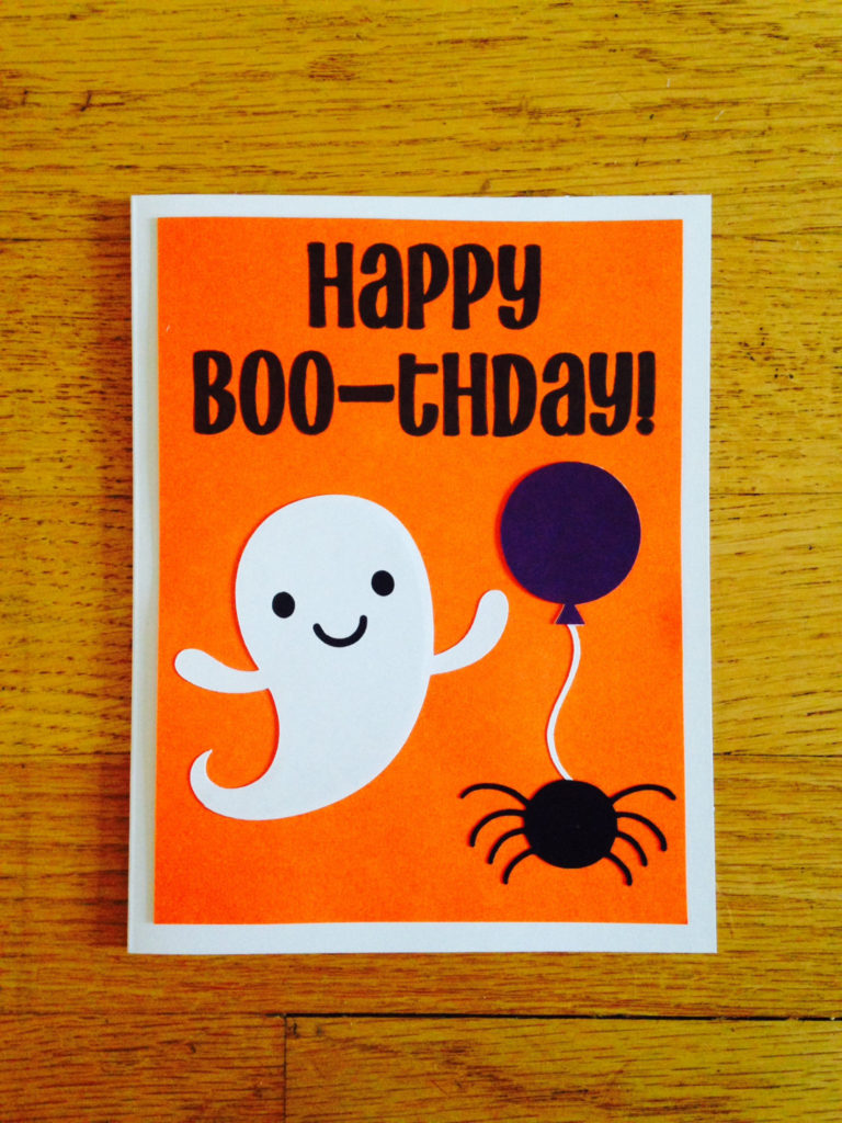 Happy Birthday Card Happy Boo thday Halloween
