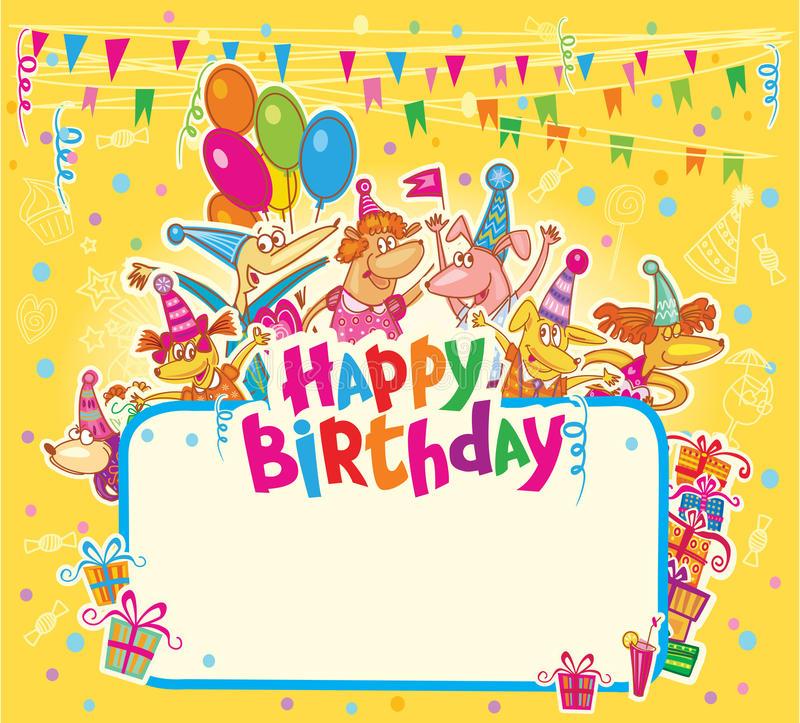 Happy Birthday Card Stock Illustration Illustration Of
