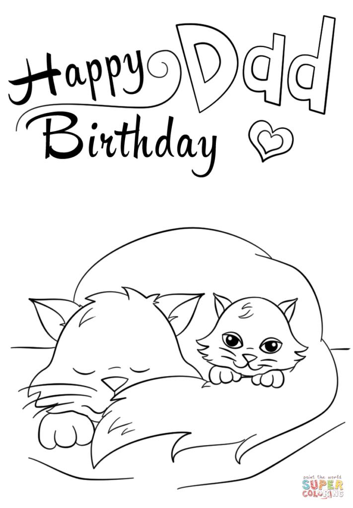Happy Birthday Dad Coloring Page Free Printable Coloring