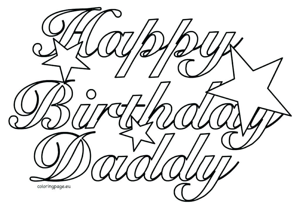 Happy Birthday Dad Coloring Pages At GetColorings