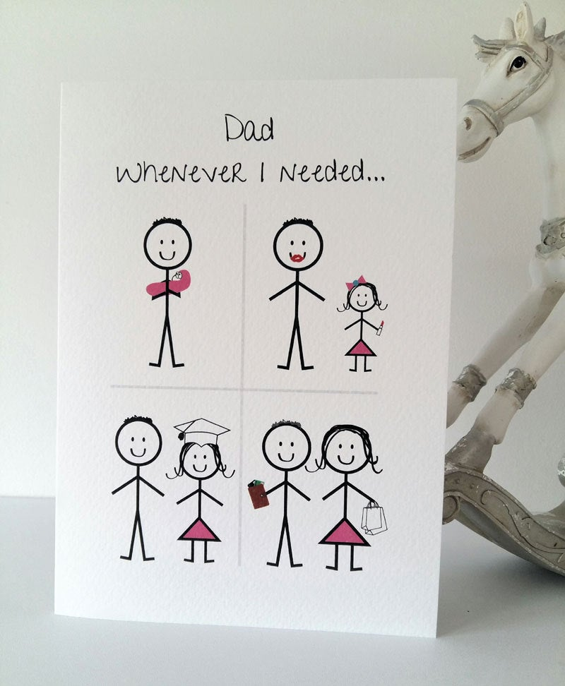 Happy Birthday Dad From Daughter Card Daddy Birthday Etsy