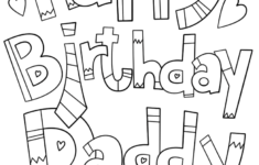 Printable Birthday Cards For Dad To Color