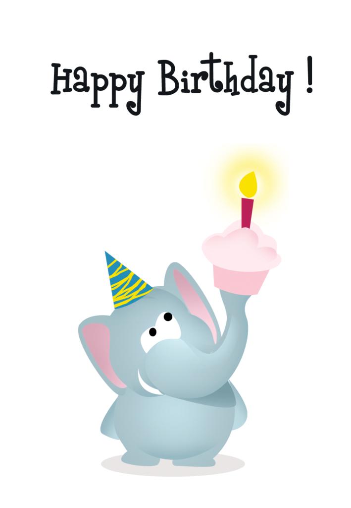 Happy Birthday Elephant Birthday Card Free Greetings