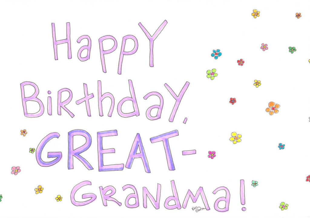 Happy Birthday Great grandma Card Birthday Card By