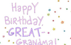 Printable Birthday Cards For Great Grandma