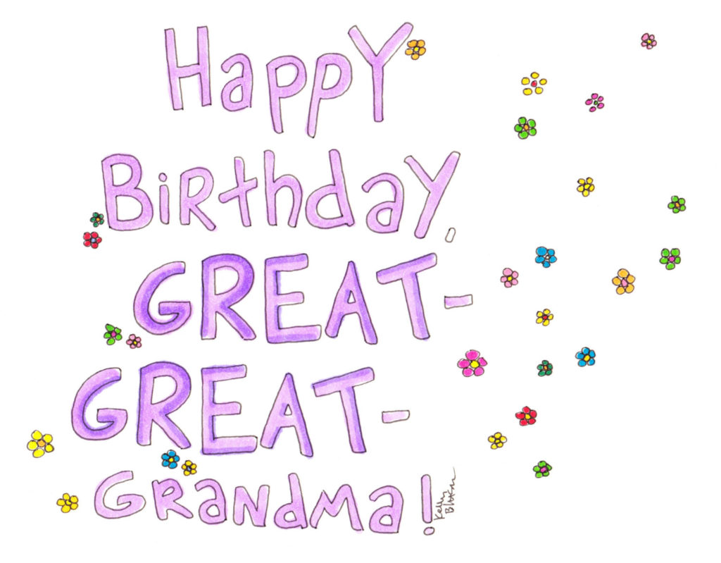 Happy Birthday Great Great grandma Card Birthday Card Etsy