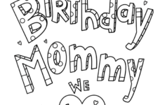 Birthday Cards For Mom Printable Coloring