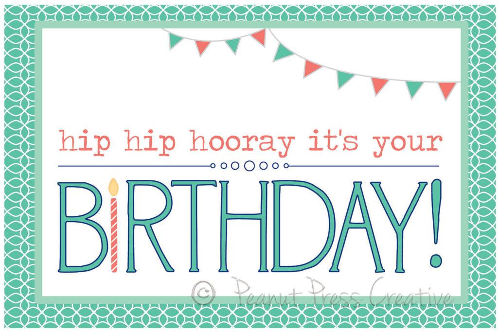 Happy Birthday Printable Card PDF By PeanutPressCreative