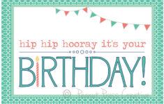 Free Printable Birthday Cards Pdf