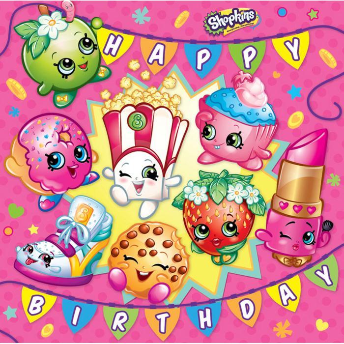 Happy Birthday Shopkins Birthday Card SK009 Character