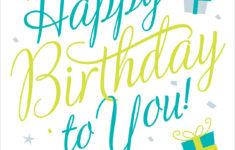 Free Printable Birthday Cards No Registration